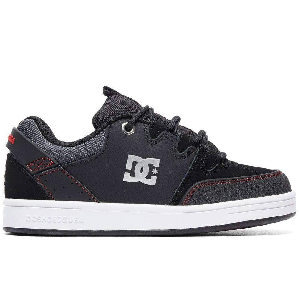 DC Syntax Boys Shoes - Black Red White Boys Skate Shoes by DC