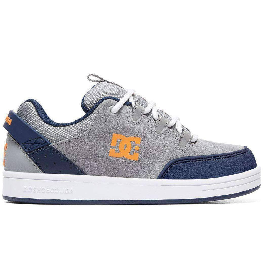 DC Syntax Boys Shoes - Grey Blue Boys Skate Shoes by DC