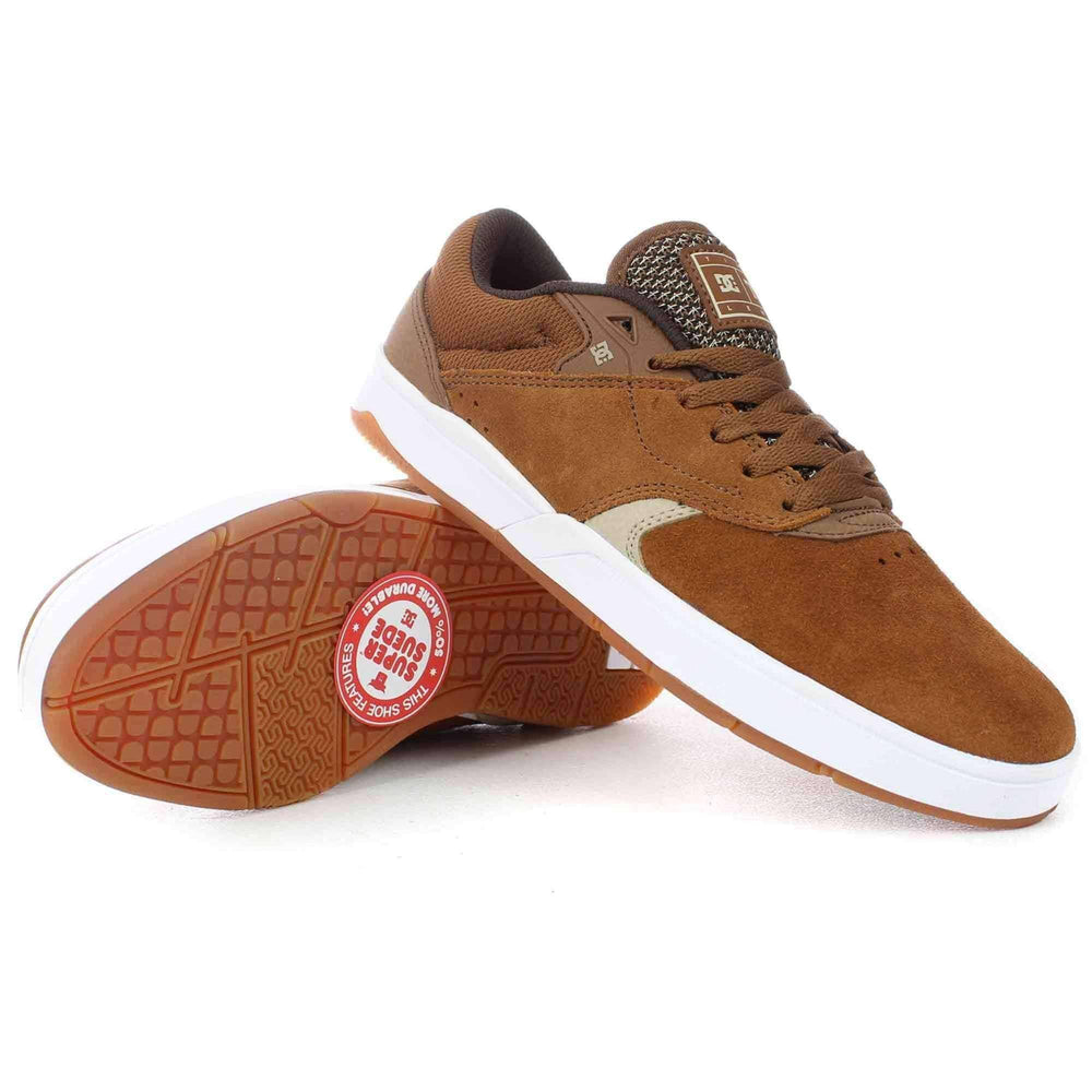 DC Tiago S Skate Shoes in Brown Tan Mens Skate Shoes by DC