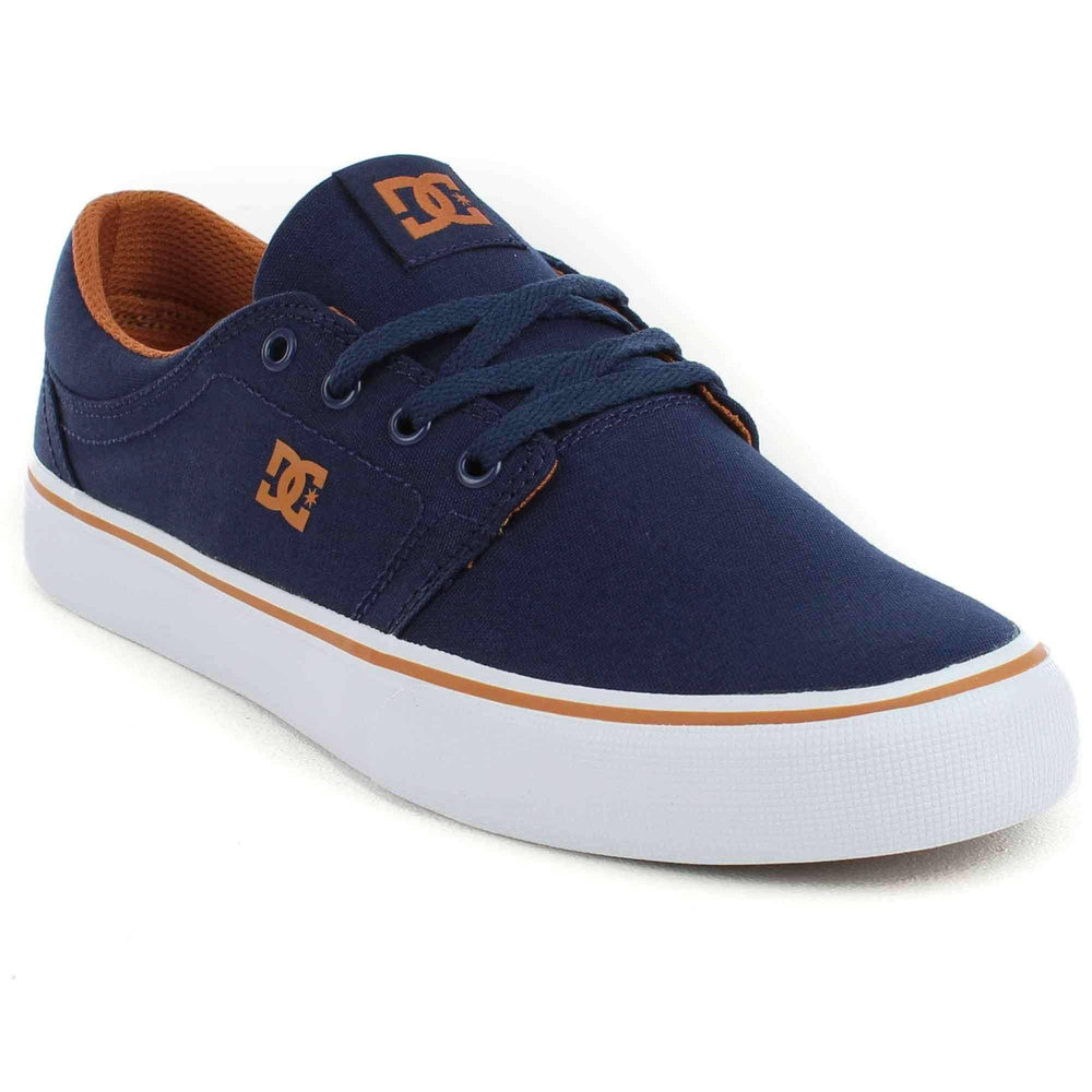 DC Trase TX Shoes in Navy Camel Mens Skate Shoes by DC
