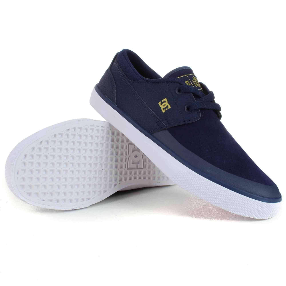 DC Wes Kremer 2 S Skate Shoes in Navy/Gold Mens Skate Shoes by DC