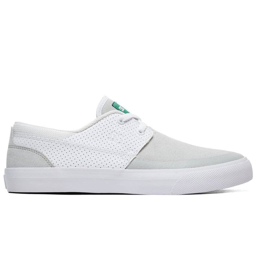 DC Wes Kremer 2 S Skate Shoes - White Green Mens Skate Shoes by DC