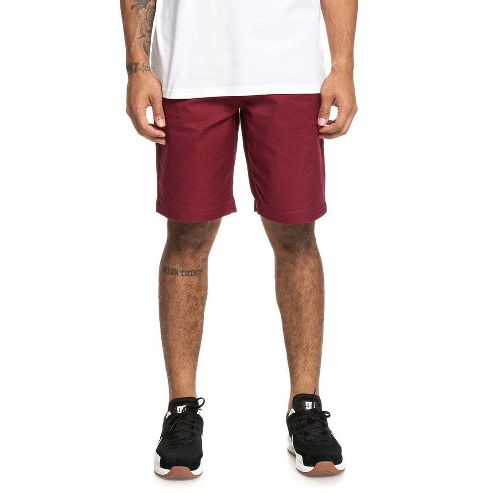 DC Worker Straight 20.5 Chino Shorts - Cabernet Mens Chino Shorts by DC