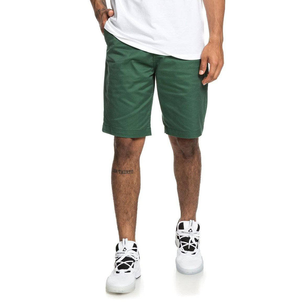 DC Worker Straight 20.5 Chino Shorts - Hunter Green Mens Chino Shorts by DC