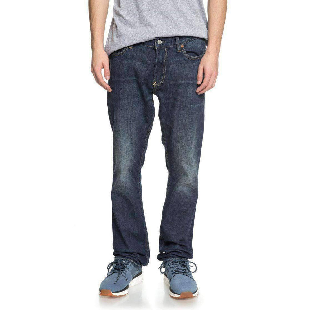 DC Worker Straight Denim Jeans - Medium Stone Mens Regular/Straight Denim Jeans by DC