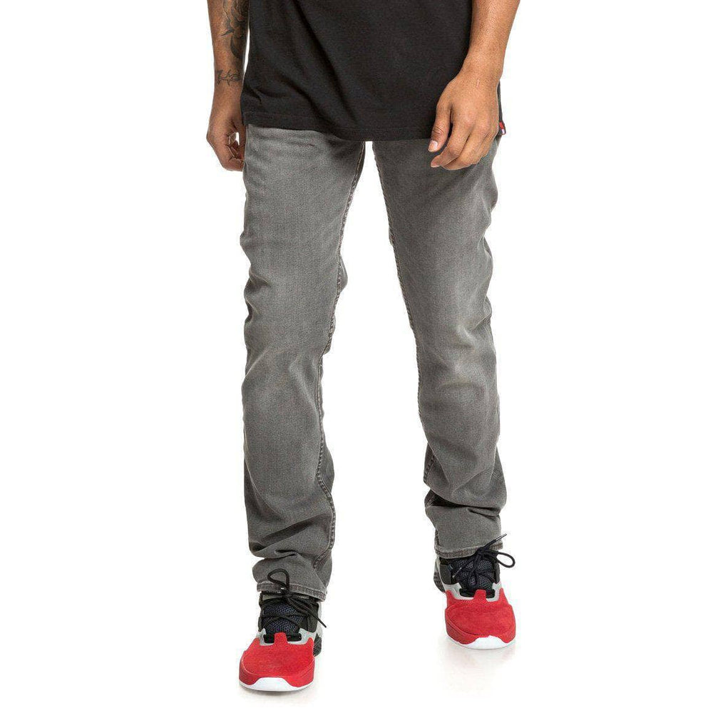 DC Worker Straight Stretch Denim - Light Grey Mens Regular/Straight Denim Jeans by DC