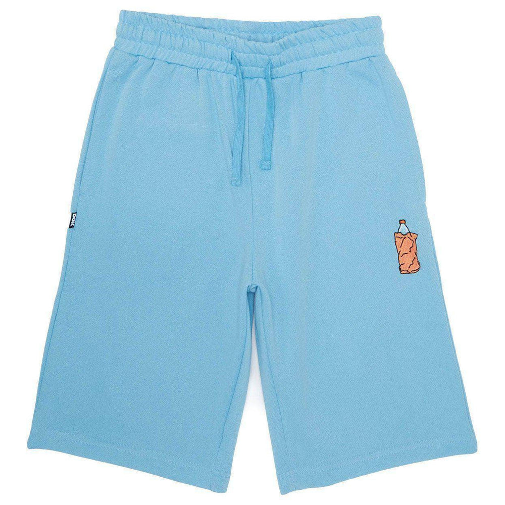 DGK 40 oz Custom Fleece Shorts in Light Blue Mens Gym Shorts by DGK
