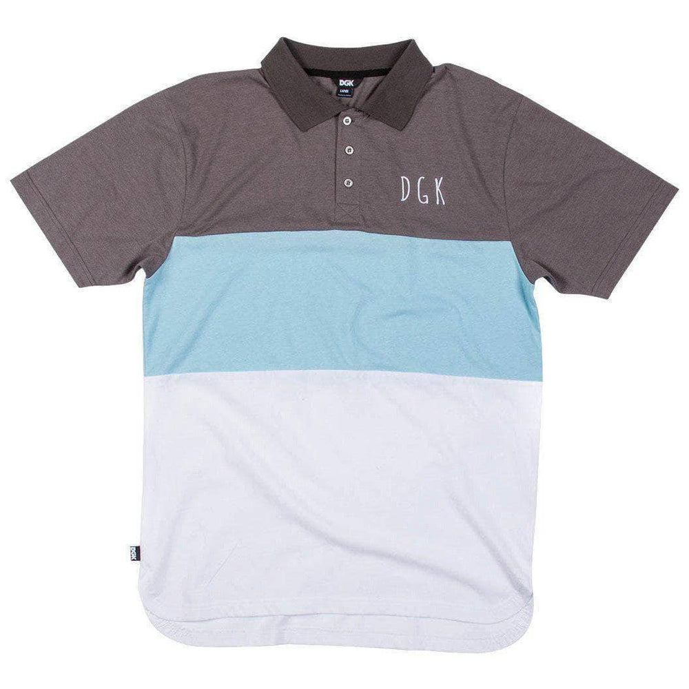 DGK Saturday Polo Shirt in Grey Mens Polo Shirt by DGK