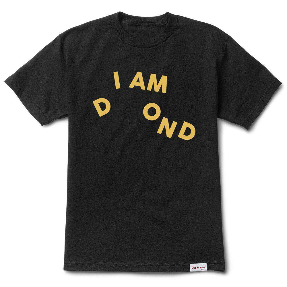 Diamond Supply Co. I Am T-Shirt - Black Mens Skate Brand T-Shirt by Diamond Supply Co.