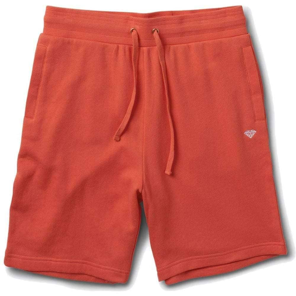 Diamond Supply Co Pavilion Sweatshorts in Salmon Mens Gym Shorts by Diamond Supply Co.
