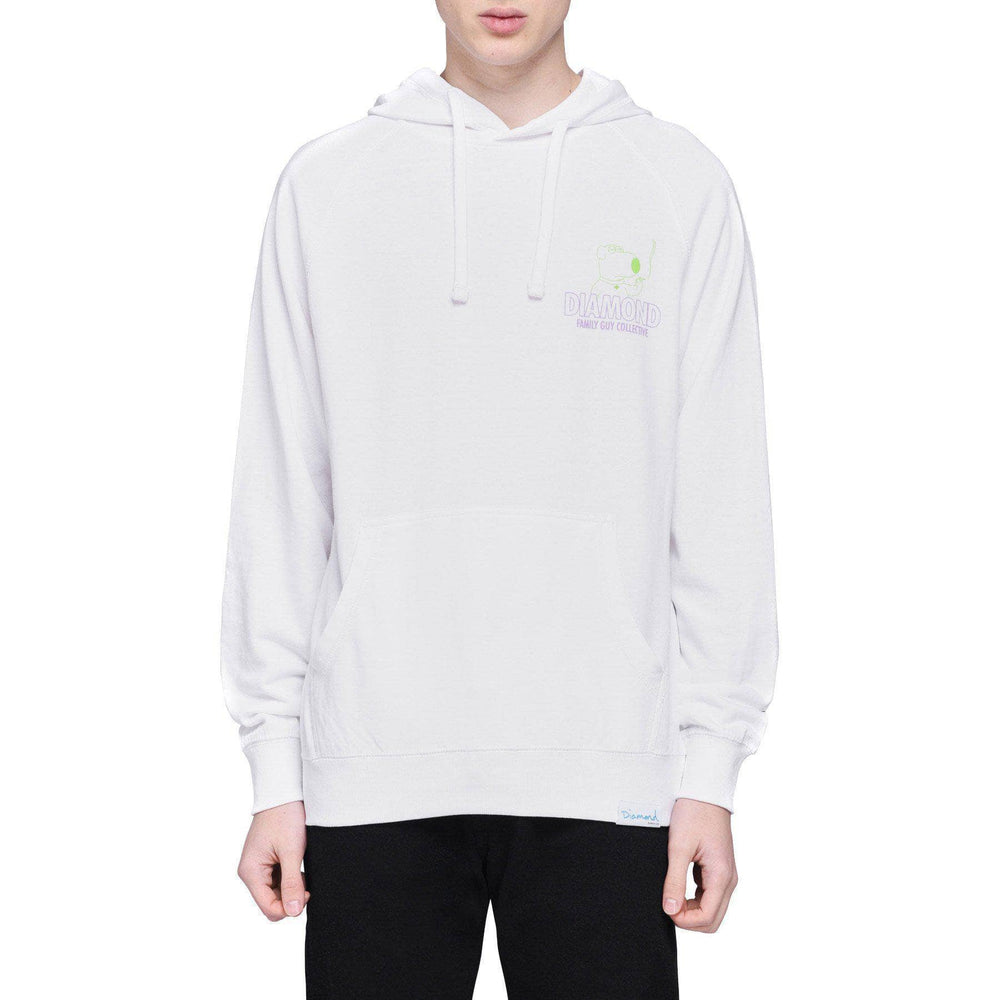 Diamond Supply Co. x Family Guy Collective Hoodie - White Mens Pullover Hoodie by Diamond Supply Co.