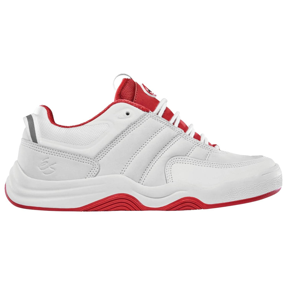 eS Evant Skate Shoes - White/Red