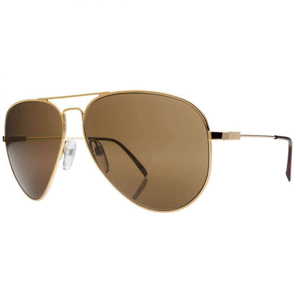 Electric AV1 Large Sunglasses in Gold/M Bronze Pilot Sunglasses by Electric