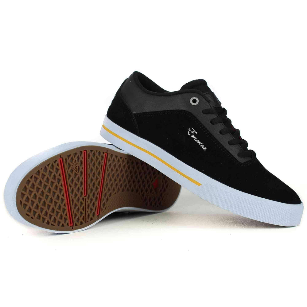 Emerica G-Code Re-Up x Vol 4 Shoes in Black White Gold Mens Skate Shoes by Emerica