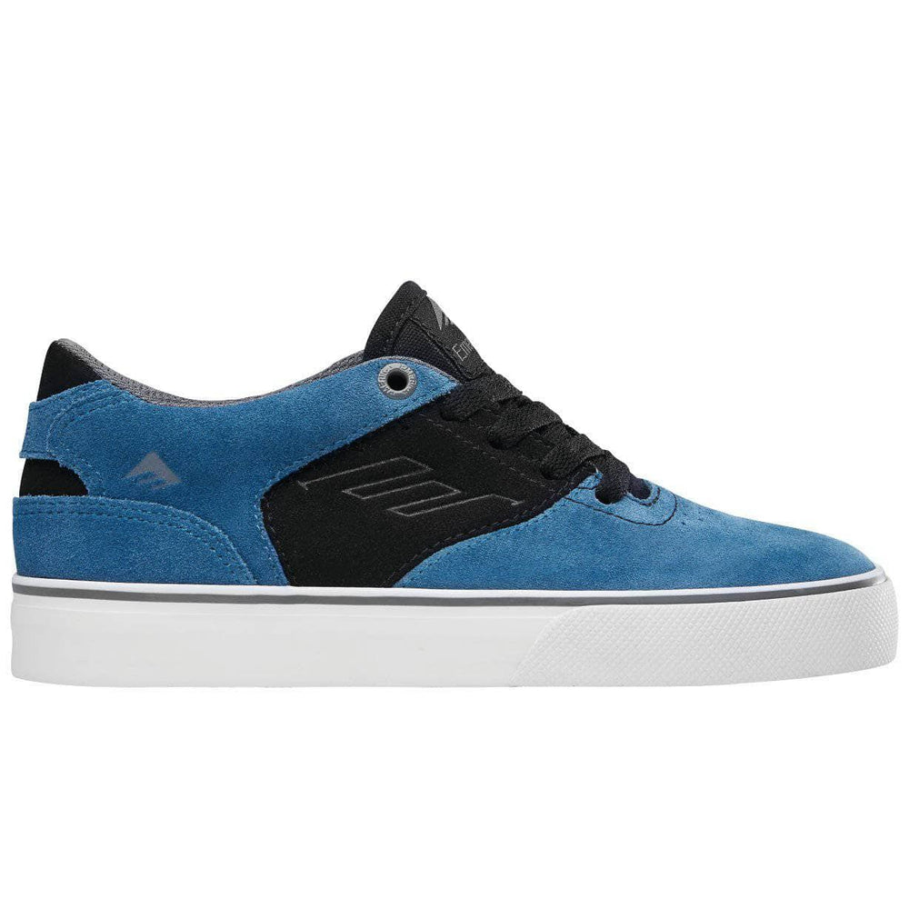 Emerica Kids The Reynolds Low Vulc Youth Skate Shoes - Blue/Black/White Boys Skate Shoes by Emerica