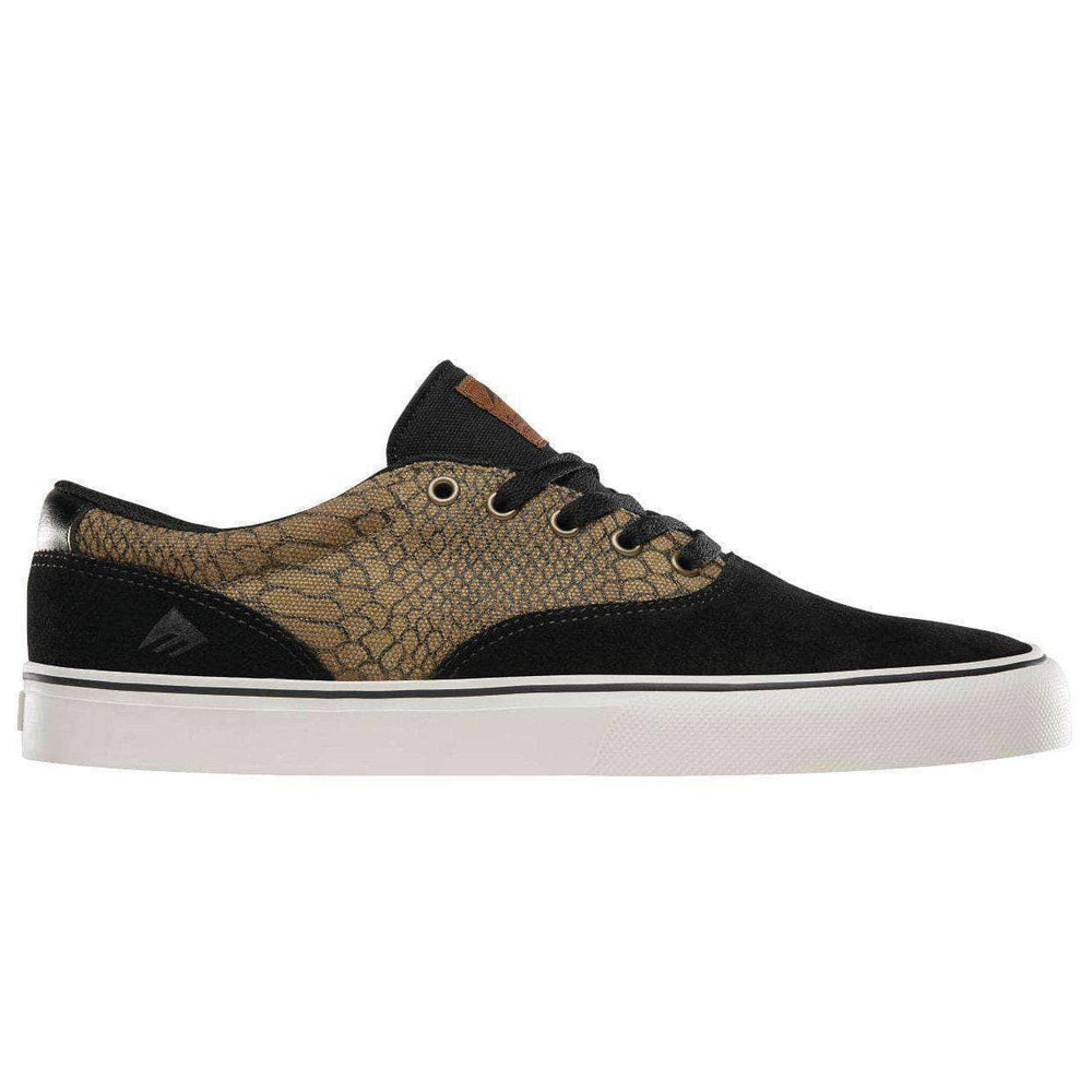 Emerica Provost Slim Vulc Shoes - Black Brown Green Mens Skate Shoes by Emerica