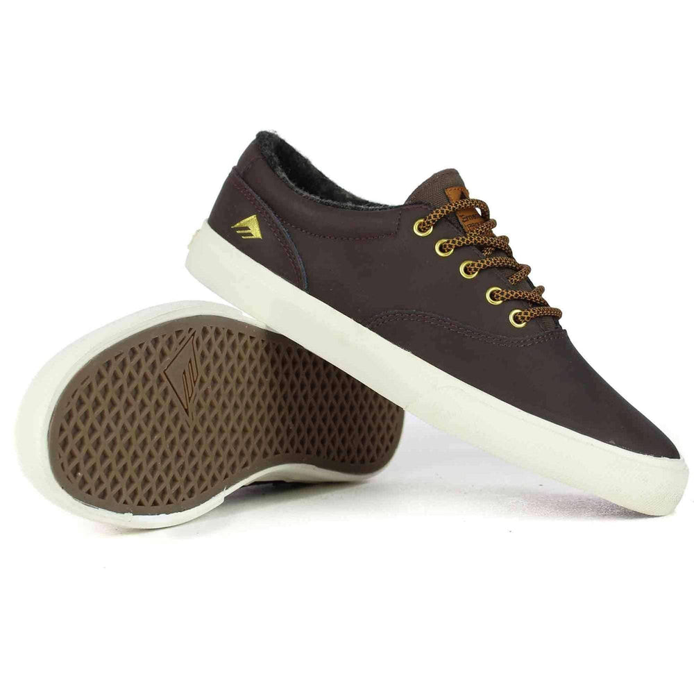 Emerica Provost Slim Vulc Shoes in Brown Mens Skate Shoes by Emerica