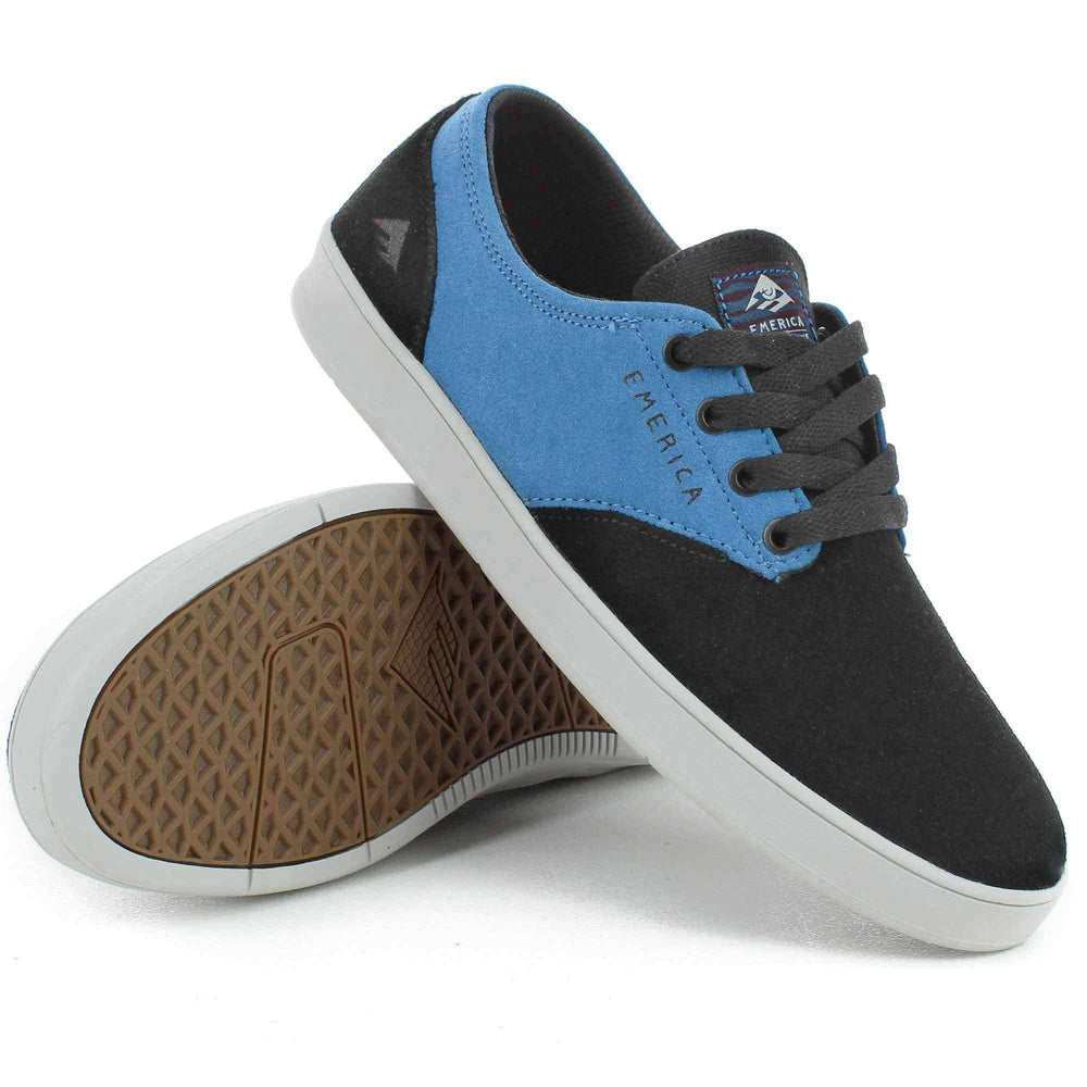 Emerica The Romero Laced x Toy Machine Shoes in Black Turquoise Mens Skate Shoes by Emerica
