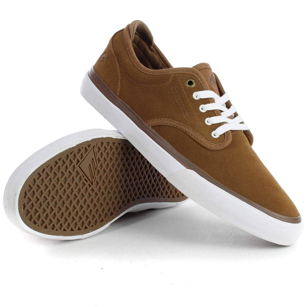 Emerica Wino G6 Shoes in Brown White Mens Skate Shoes by Emerica