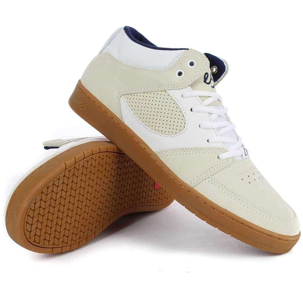 eS Accel Slim Mid Shoes in White Gum Mens Skate Shoes by eS