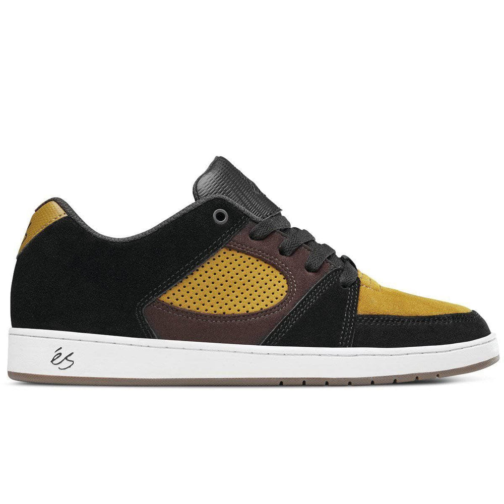 eS Accel Slim Skate Shoes Black Brown Mens Skate Shoes by eS