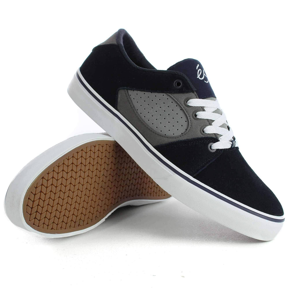 eS Square Three Shoes in Navy Grey Mens Skate Shoes by eS