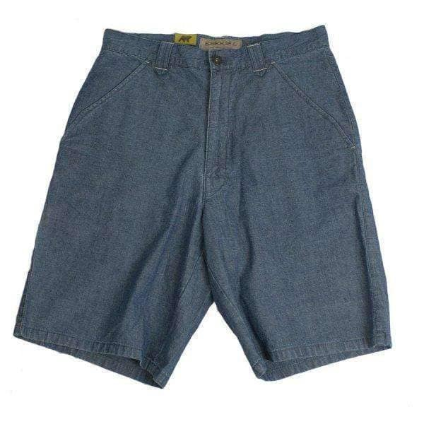 Ezekiel Mens Denim Wash Jeans Walk Shorts Blue Wash Mens Denim Shorts by Ezekiel