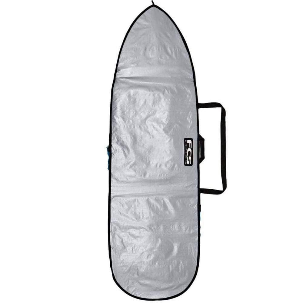 FCS 5'9 Classic Short Board Bag Cover in Silver/Tarpee Surfboard Day Runner Bag/Cover by FCS 5ft 9in