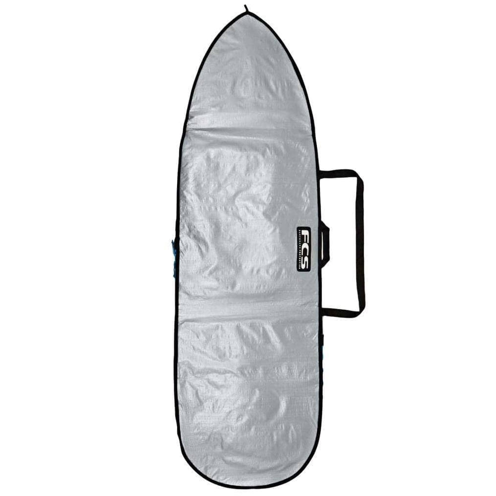 FCS 8'0 Basics Fun Board Bag Cover in Silver/Tarpee Surfboard Day Runner Bag/Cover by FCS 8ft 0in