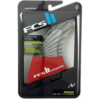 FCS II Accelerator PC Carbon Red Mood Tri Surfboard Fins FCS II Fins by FCS