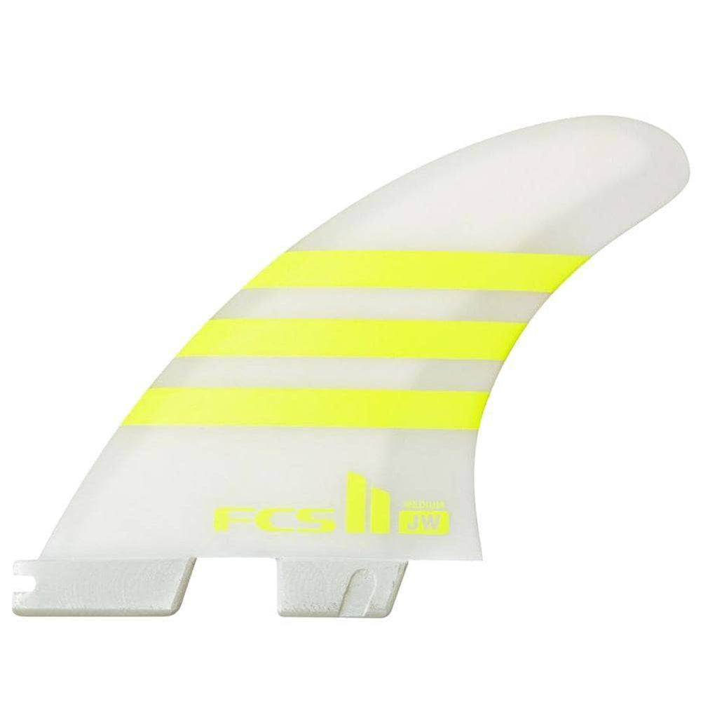 FCS II JW Julian Wilson PC AirCore Surfboard Fins - Medium - Acid White FCS II Fins by FCS Medium Fins