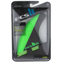 FCS II MF PC Tri Surfboard Fins - Green Black FCS II Fins by FCS Large Fins