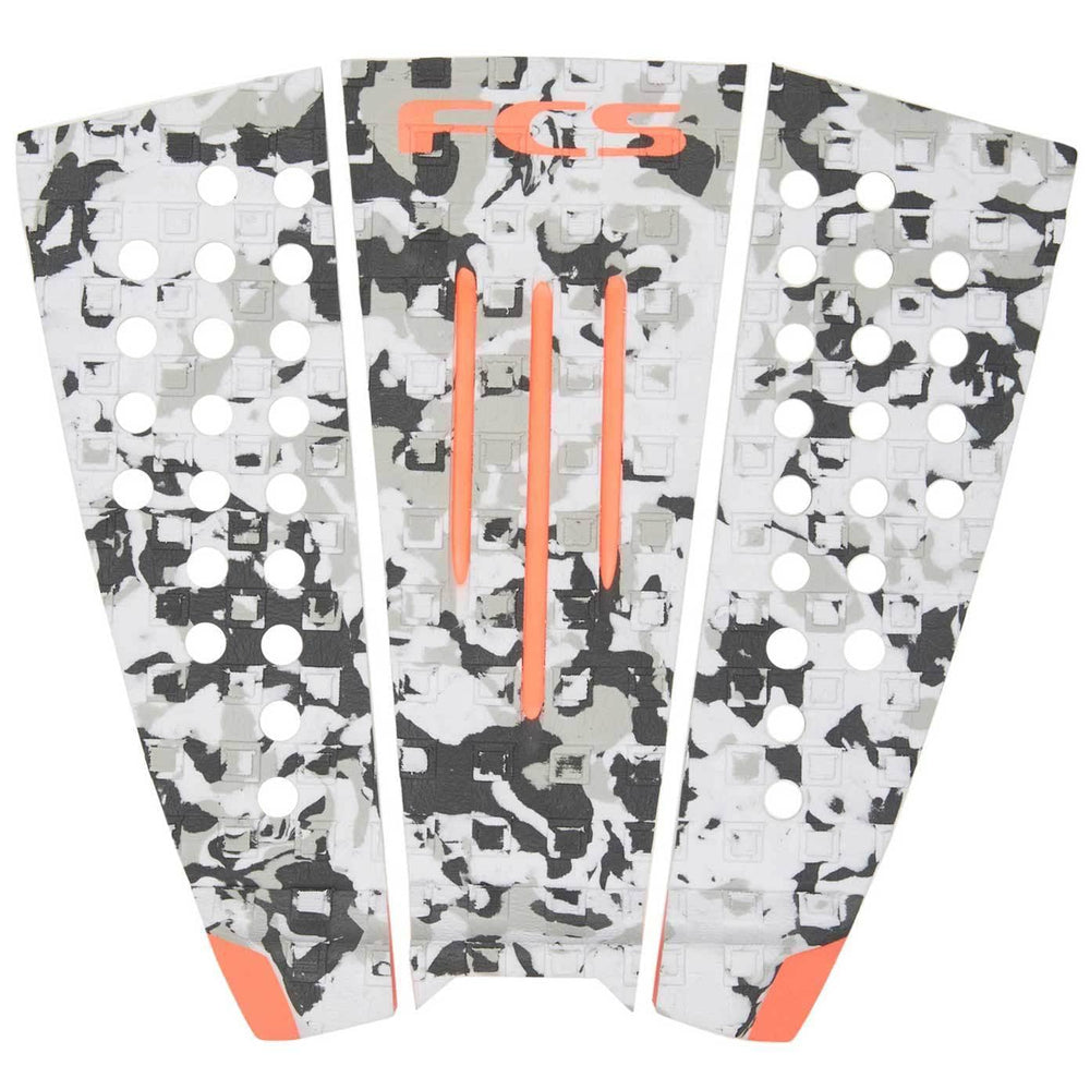 FCS Julian Grom Surfboard Tail Pad Grey Camo Blood Orange O/S (one size) 3 Piece Tail Pad by FCS