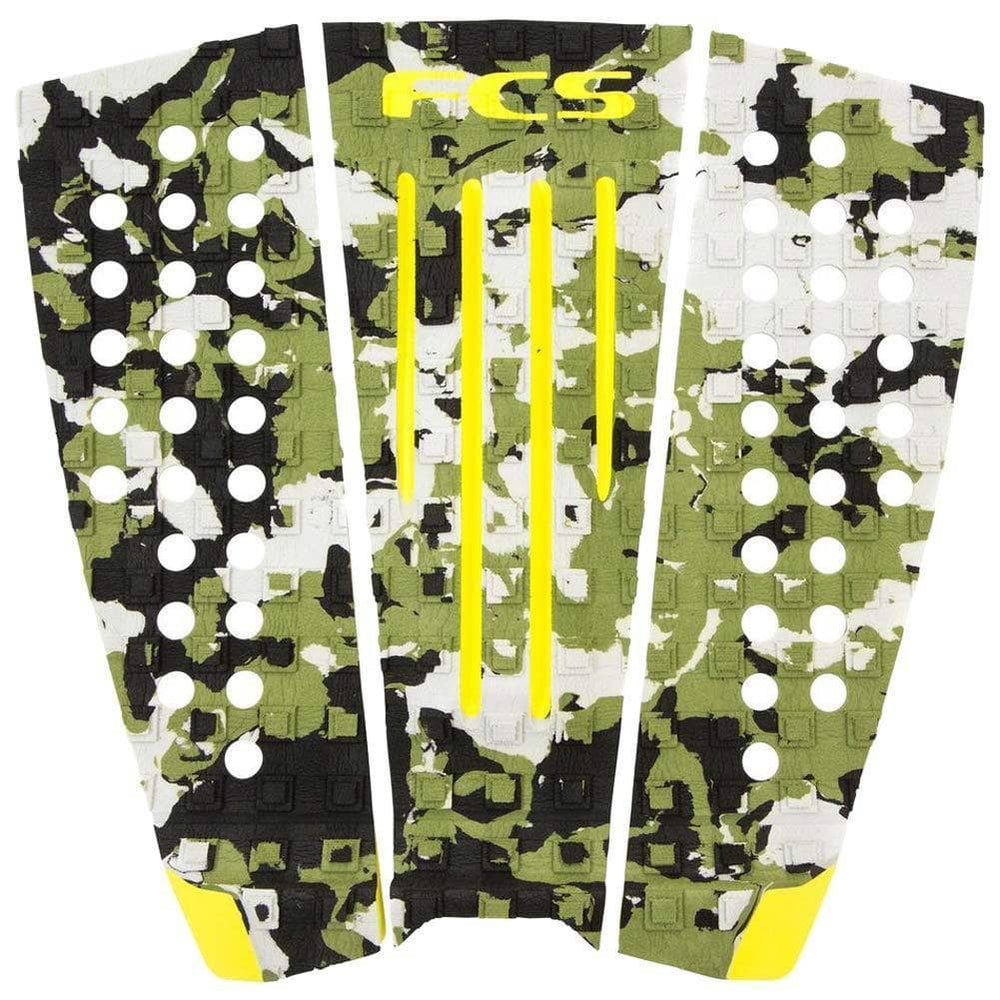 FCS Julian Wilson Tail Pad Surfboard Grip - Army Camo Acid 3 Piece Tail Pad by FCS O/S (one size)