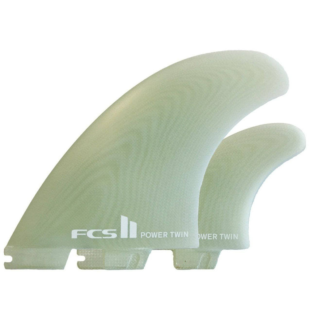 FCS Power Twin + 1 PG Surfboard Fins - Clear FCS II Fins by FCS XL Fins