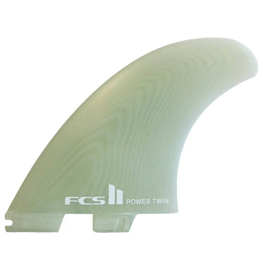 FCS Power Twin PG Surfboard Twin Fins - Clear FCS II Fins by FCS XL Fins