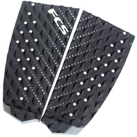 FCS T-2 Black/Charcoal Tail Pad Surfboard Grip 2 Piece Tail Pad by FCS