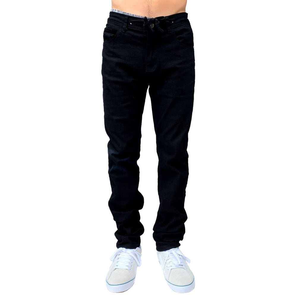 Footprint Kingfoam Footprint Relaxed Fit 5 Pocket Stretch  Chino Pants in Black - Black - Mens Chino Pants/Trousers by Footprint Kingfoam