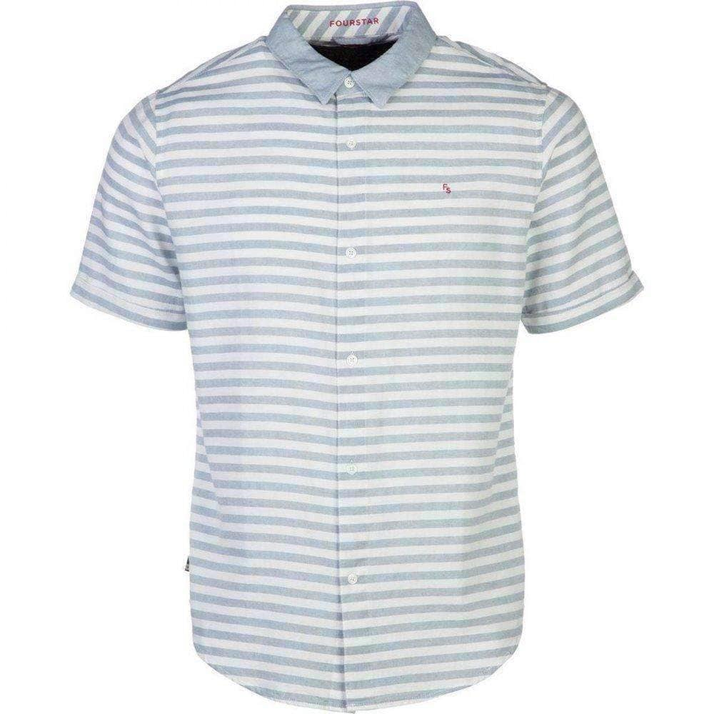 Fourstar Mens Koston Short Sleeve Shirt in White Mens Casual Shirt by Fourstar