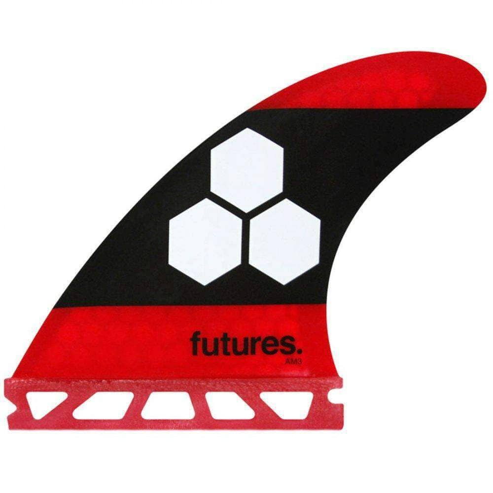 Futures AM3 Honeycomb Small Surfboard Fins in Red Futures Single Tab Fins by Futures Small Fins