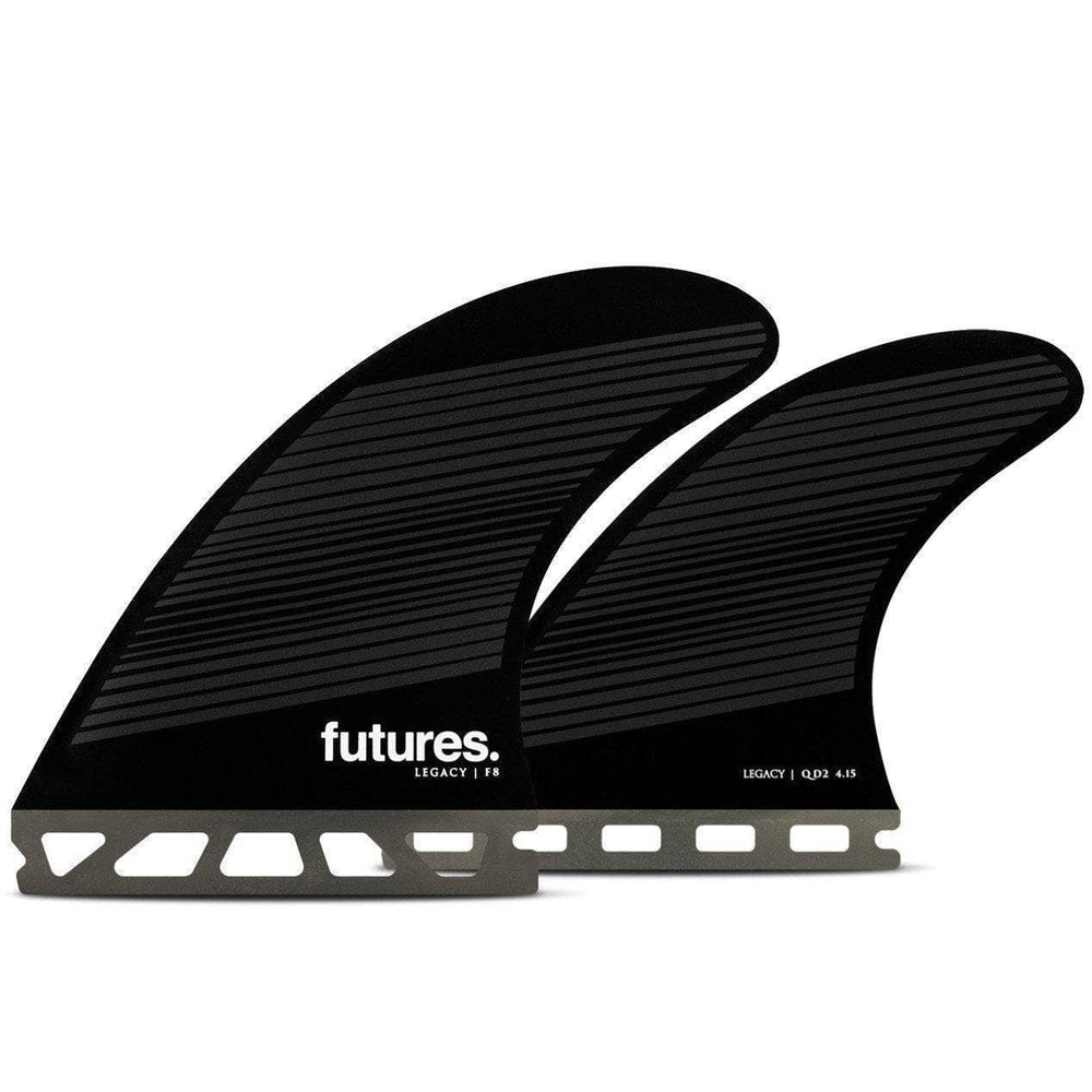 Futures F8 Honeycomb Quad Surfboard Fins - Grey Black Futures Single Tab Fins by Futures Large Fins