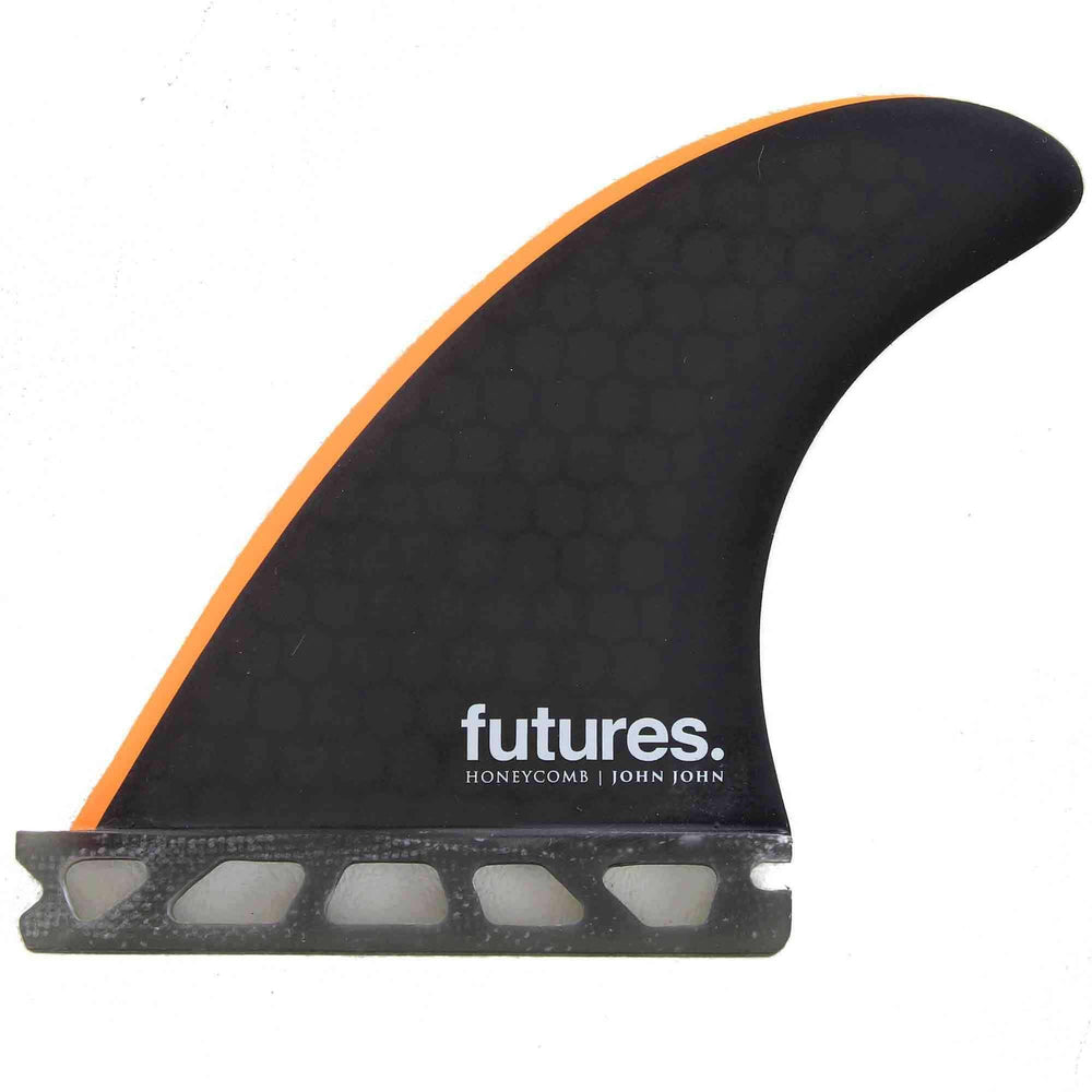 Futures Grom John Honeycomb X-Small Surfboard Fins - Black Orange Futures Single Tab Fins by Futures XS (Grom) Fins