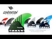 Futures Futures Single Tab Fins Futures HS1 Generation Series Large Surfboard Fins Thruster Set Large Fins
