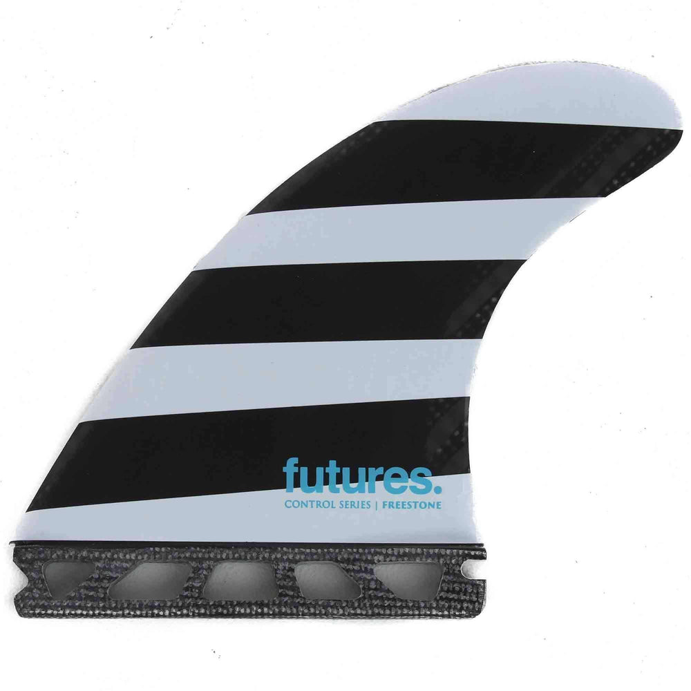 Futures Jack Freestone Control Series Large Fibreglass Thruster Surfboard Fins - Polka Stripes Futures Single Tab Fins by Futures Large Fins