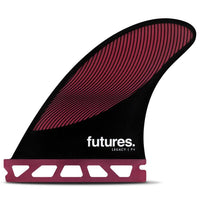 Futures P4 Legacy Surfboard Fins - Burgundy Black Futures Single Tab Fins by Futures Small Fins
