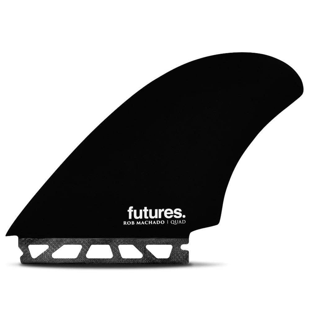 Futures Rob Machado Seaside Quad Fins Honeycombe Black Swirl O/S (one size) Futures Single Tab Fins by Futures