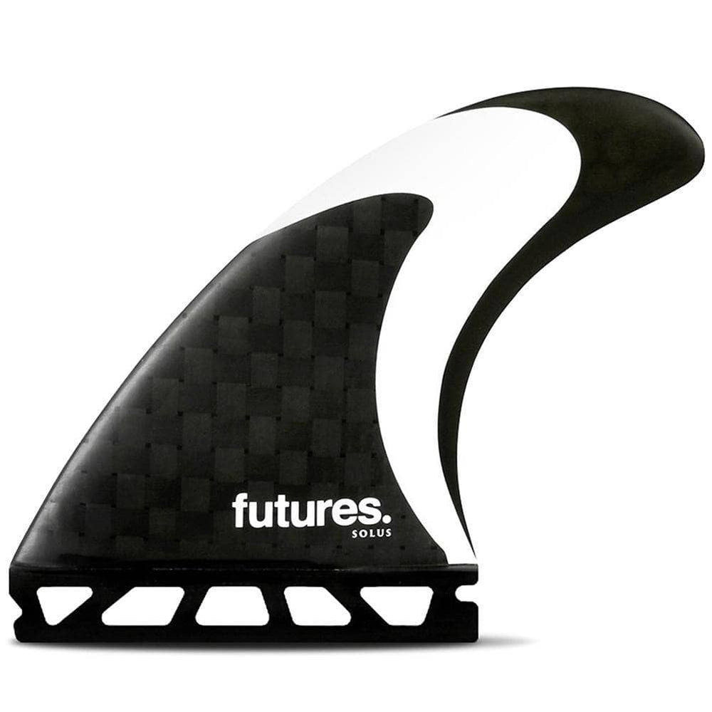 Futures Solus Speed Generating Surfboard Fins - Black White Futures Single Tab Fins by Futures Medium Fins