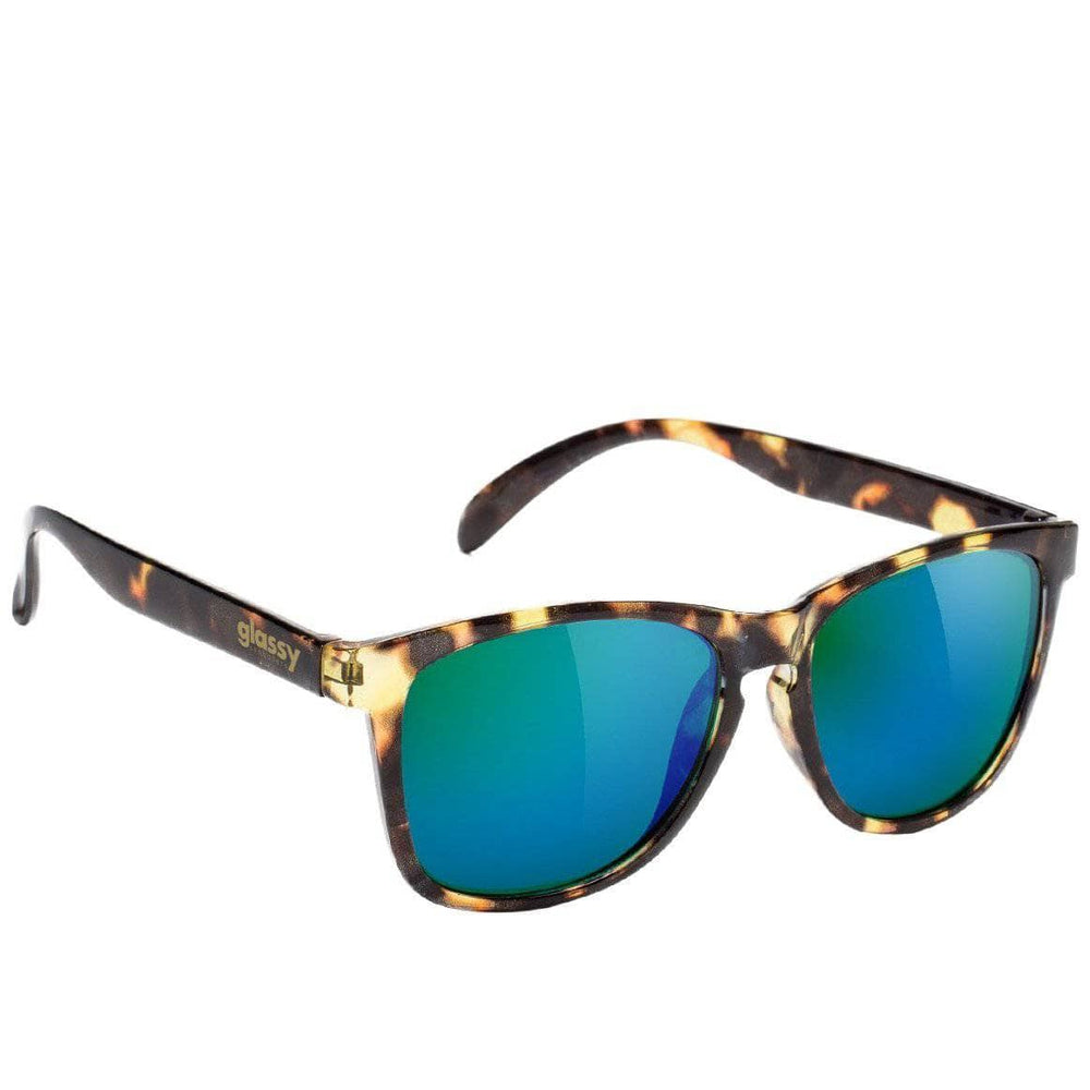 Glassy Deric Sunglasses - Tortoise - Green Mirror Square/Rectangular Sunglasses by Glassy N/A