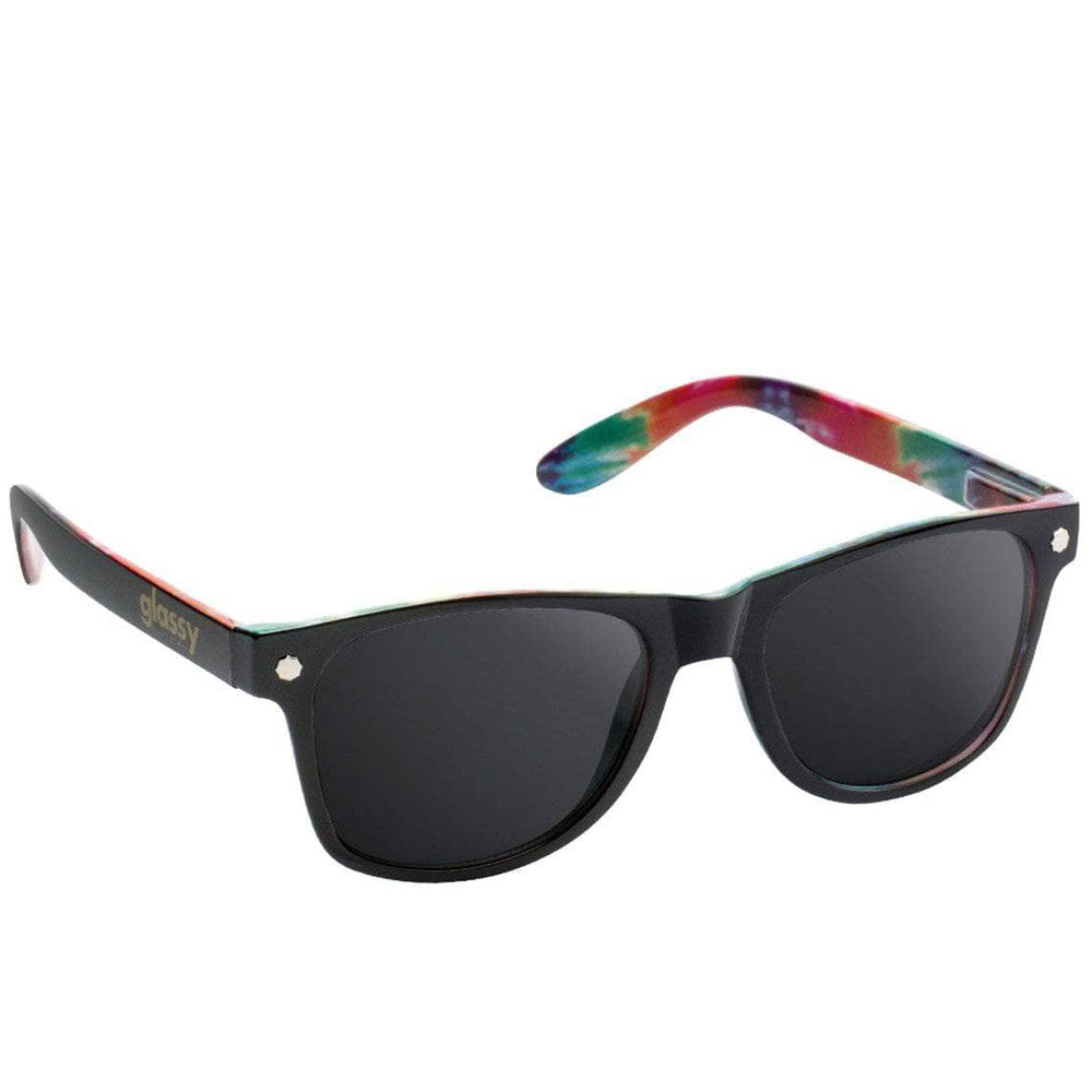 Glassy Leonard Sunglasses - Black - Tye Dye Square/Rectangular Sunglasses by Glassy N/A