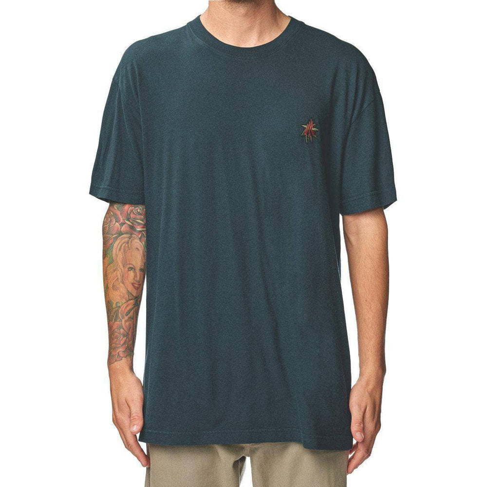 Globe Mens Graphic T-Shirt Globe Appleyard Florida T-Shirt - Midnight